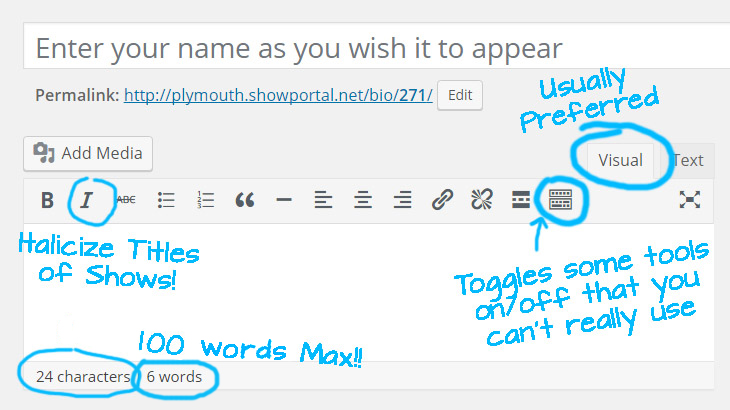 100 words max